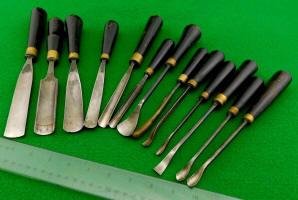 13 Antique Carving Tools / Gouges