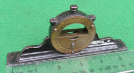 L. L. Davis Mantle Clock Inclinometer / Level