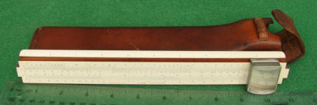 Dietzgen Slide Rule w/ Magnifier & Humped Case