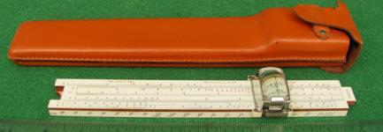 K & E / Keuffel & Esser 4133           Roylance Electrical Slide Rule w/ Magnifier & Humped Case