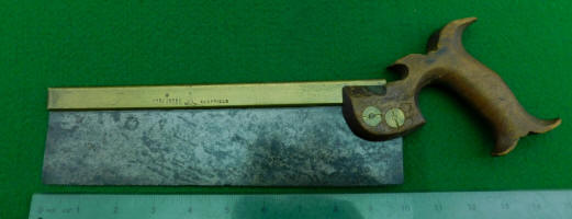 Open Handle Robert Sorby Brass Back Dovetail / Back Saw