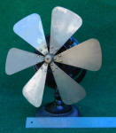 12 Inch Beaded Base 6 Blade Antique Electric Desk Fan
