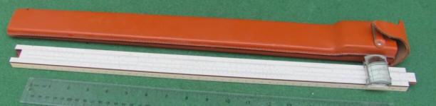 Keuffel & Esser 4053-5 Slide Rule w/ Magnifier & Leather Case
