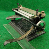 Osborne  Splitter's Patent Champion Lap Skiver and  Leather Splitting Machine