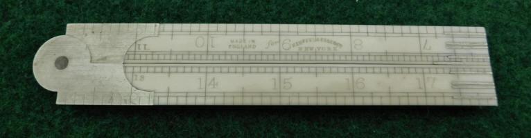 J. Rabone / Keuffel & Esser 2' 4 Fold Ivory Architects Rule (86 1/2)