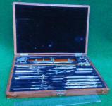Dietzgen Drafting Instrument Set in Wooden Case