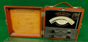 Weston Standard Portable Direct & Alternating Current Volt Meter