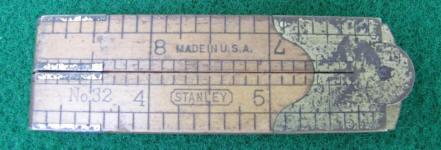 Stanley # 32 1' 4 Fold Caliper Rule