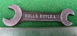 Rolls Royce Ltd. 3/16 - 1/4 Open End Spanner Wrench