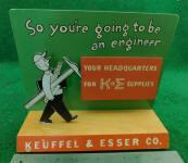 K & E Keuffel & Esser Point of Sale Countertop Display