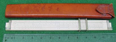 Keuffel & Esser 4088-3 Slide Rule w/ Column Cursor & Leather Case