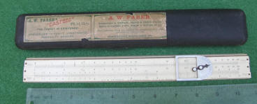 Faber Slide Rule w/ Hard Case & Decimal Keeper Cursor