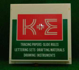 K & E / Keuffel & Esser Point of Sale Advertising Sign