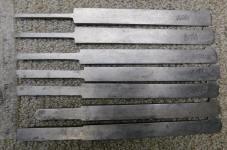 7 W. Butcher Sheffield Plow Plane Irons / Cutters