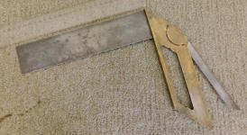 Early Brass Frame Square w/ Bevel