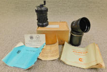 Curta Type I Calculator w/ Box & Paperwork