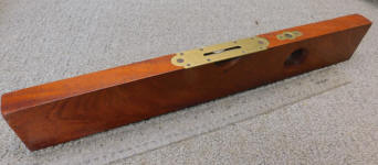 L. L. Davis Mahogany Level