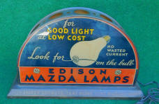 Edison Mazda Lamp / Light Bulb Display