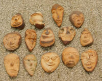 "Collection of Antique ""Nut-People"" Carvings"