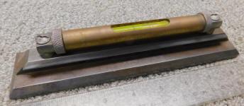 Antique Iron & Brass Bench Level
