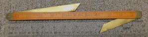 Lufkin No. 42 Ship Carpenters Ruler w/ 2 Bevels