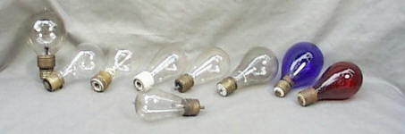Collection of Early Light Bulbs