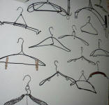vintage wire clothes hangers