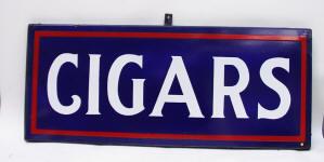 Double Sided Porcelain Cigar Shop Sign