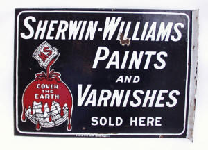 Shewin Williams Porcelain Sign