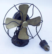 Antique Polar Cub DC Fan with Cast Iron Base