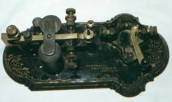 Patented Cast Iron Base Telegraph Key