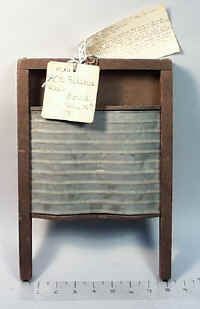 1871 Patent Model of Washboard
