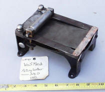 Patent  Model from 1865 of Leather Skiver or Splitter