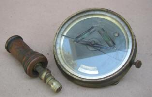 Patented 1871 T. F. Randolph Vernier Compass w/ 4' Needle