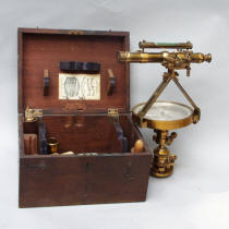 Gurley Railroad Pocket Compass with Auxiliary Scope