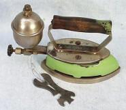 Coleman No. 5 Green Enamel Gasoline Iron