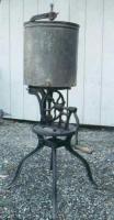 Antique Cast Iron Base Gear Driven Butter Churn