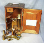 Early Crows Foot or Tripod Base Patented 1875 & 1886 Bausch & Lomb Microscope