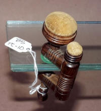 Antique Rosewood Sewing Clamp Pincushion