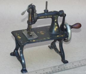 American Gem TSM / Travel Size / Child-Size Antique Toy Treadle Sewing Machine