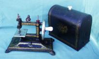 Antique Hand-Crank Cast Iron Colibri Sewing Machine