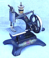 Antikque Muller 20 Cast Iron Toy Sewing Machine