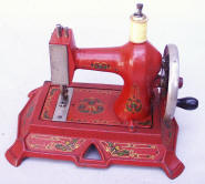 F.W.  Muller No. 19 Handcrank Antique Sewing Machine in RED!