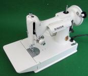 1968 White Singer Featherweight 221K Sewing Machine (EW067745)