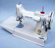 Tan Singer Featherweight Sewing Machine