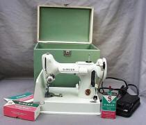 White  Singer Featherweight 221K Sewing Machine